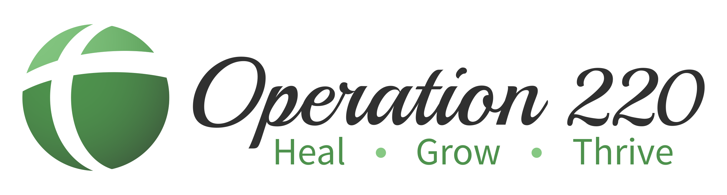 Operation 220 logo: Heal, Grow, Thrive